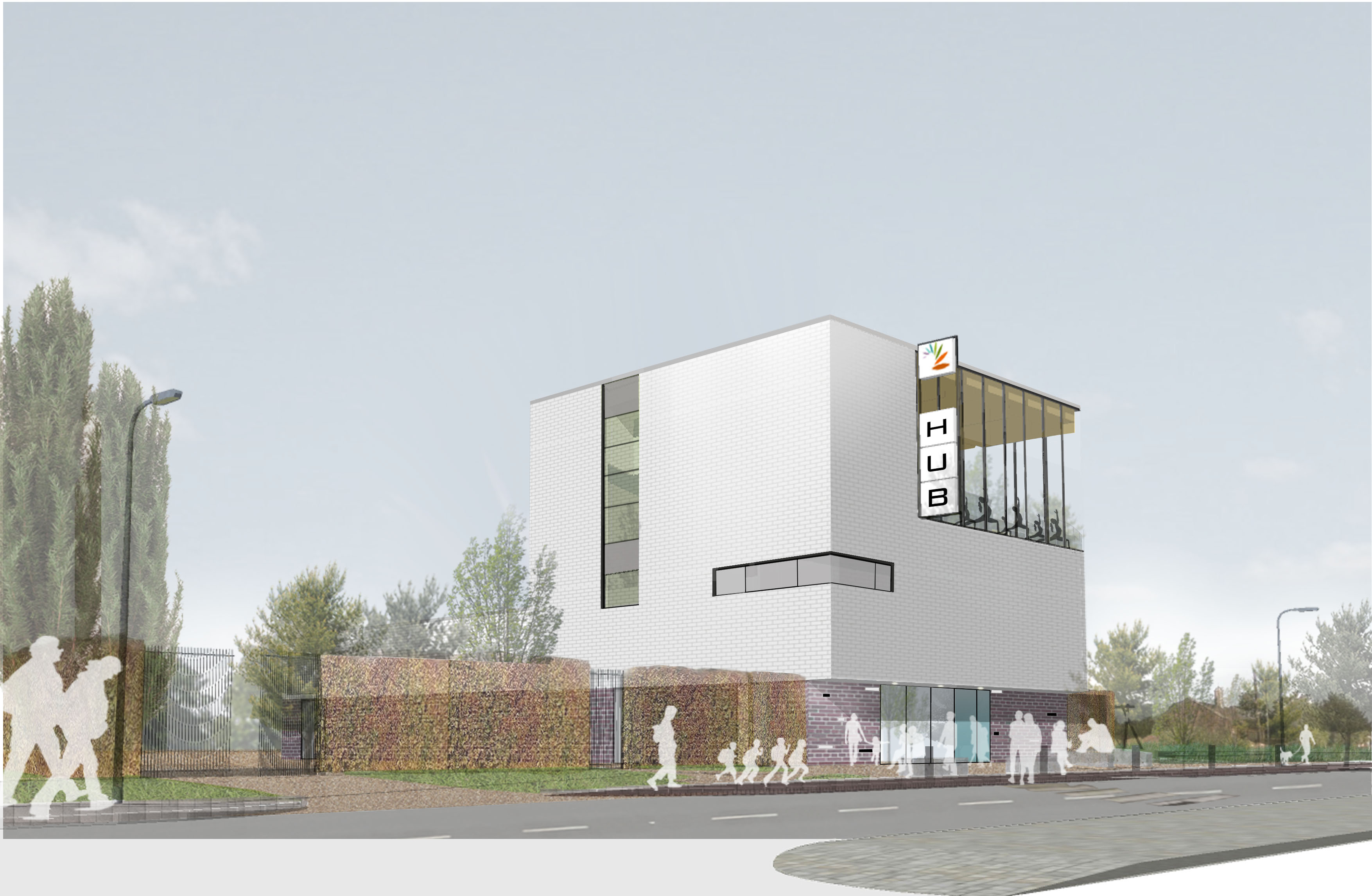 Bewsey and Dallam Community Hub - North view