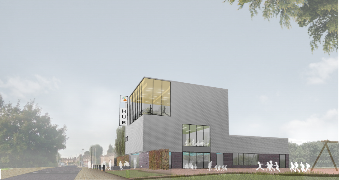 Bewsey and Dallam Community Hub - south view