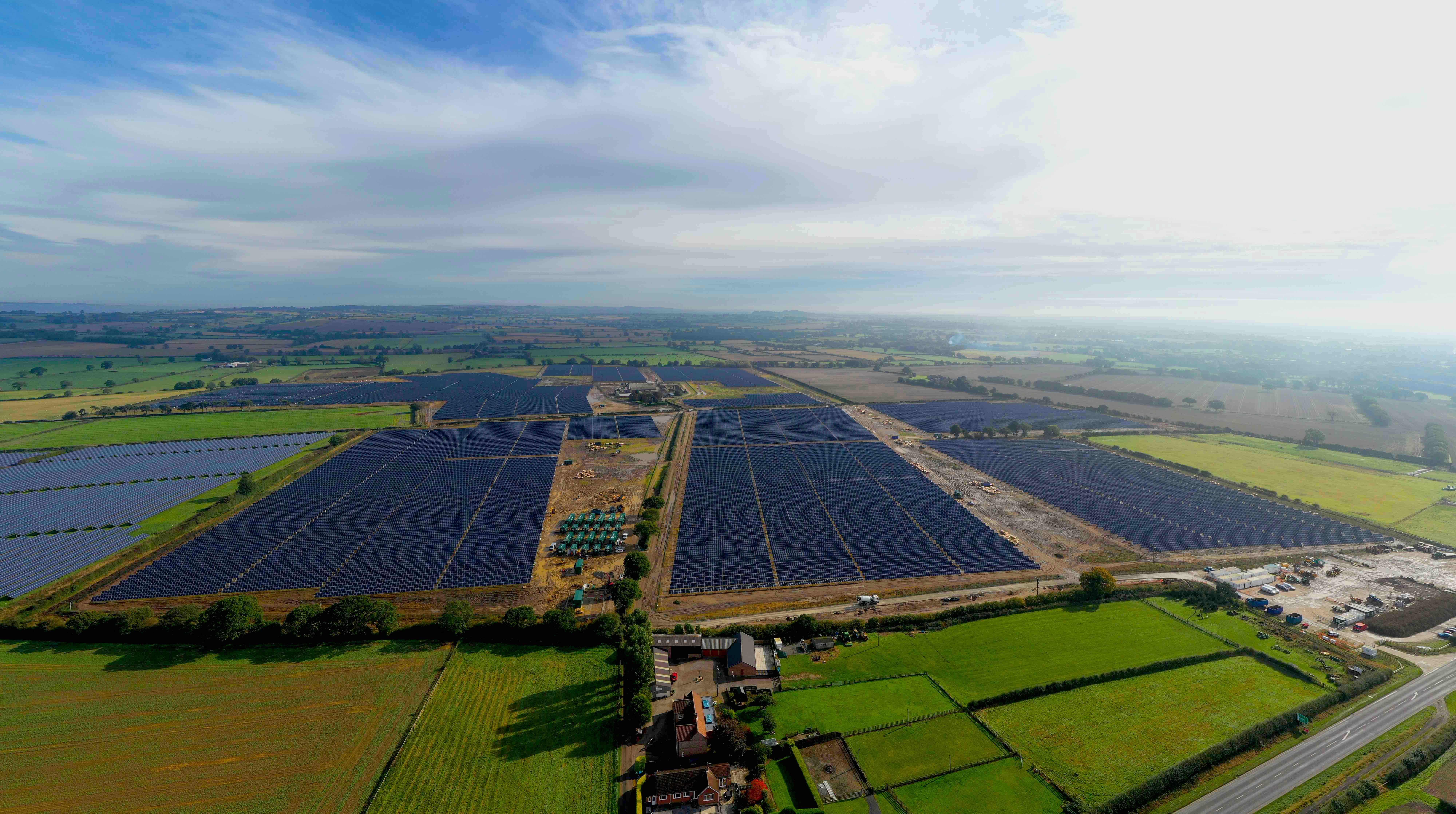 Gridserve solar energy aerial photograph