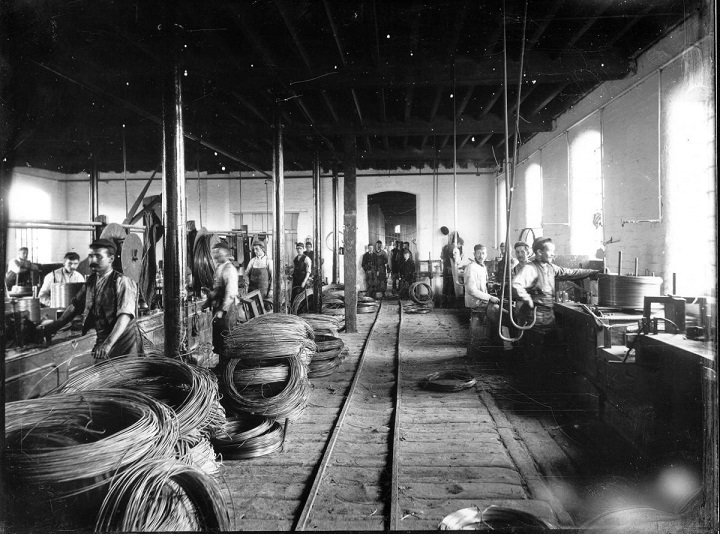 A picture of a Warrington wire making factory