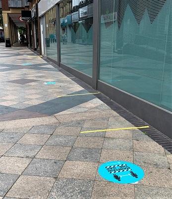 Golden Square floor signage