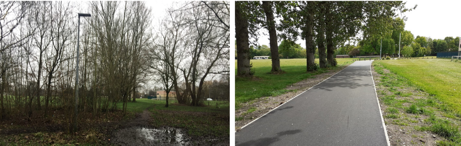 Bennetts recreational ground - before and after