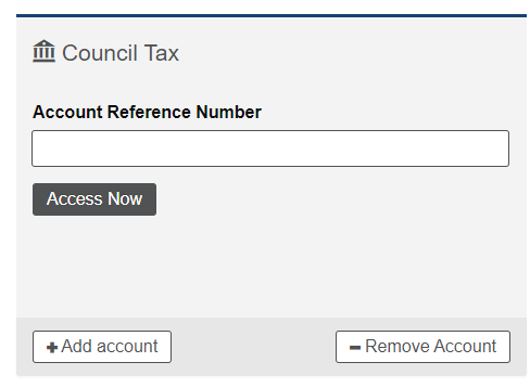Add Council Tax Panel