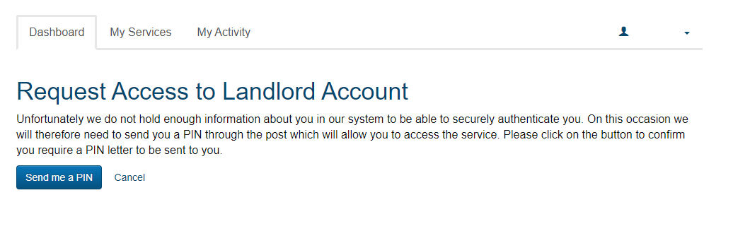 Landlord Account - Not enough information