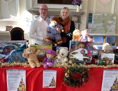 Cllr Higgins and Cllr Flaherty at the Toy Appeal