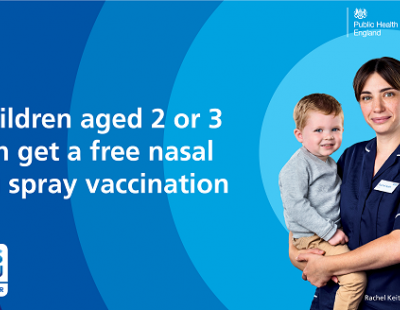 Children's flu nasal spray advert - children aged 2 and 3 can get a free flu spray