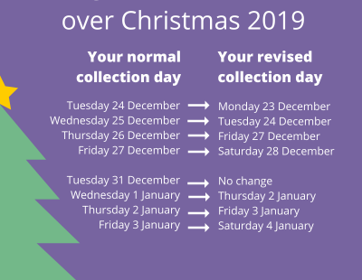 Christmas bin collection dates