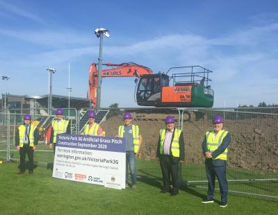 Work starts on 3G rugby pitch
